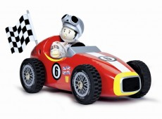 Le Toy Van Wooden Red Retro Racer