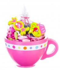 Bead Bazaar Pink Sugar Cup