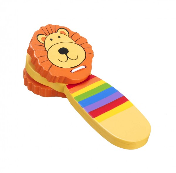 Orange Tree Toys Lion Clacker