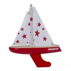 Skipper Red Stars 8-inch Chubby Pond Yacht