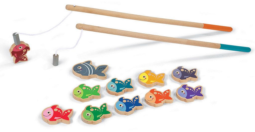 Janod let s go fishing magnetic game for Magnetic fishing pole