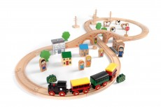 Tidlo Wooden Train (50 Piece) - Here comes the express!