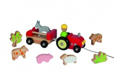 Janod Multi Animo Tractor - 9 Piece Set