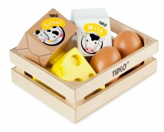 Tidlo Wooden Eggs and Diary in Crate
