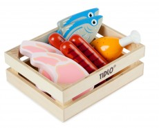 Tidlo Wooden Meat and Fish - With Crate
