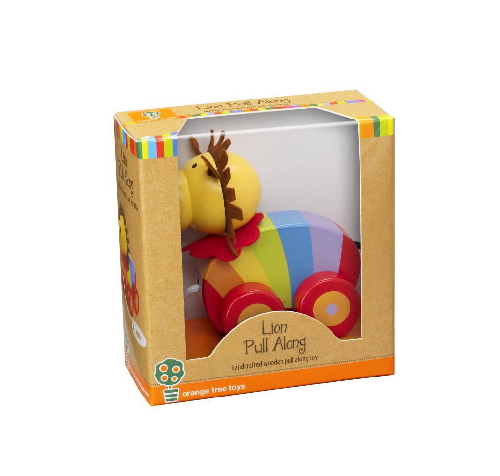 Orange Tree Toys Lion Pull Along