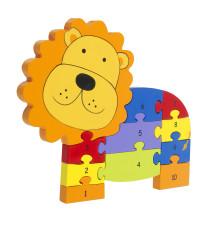 Number Puzzle - Lion