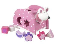 Shape Sorter - Pink Mouse