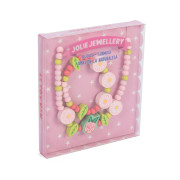 TV816 Jolie Jewellry flowers bracelet and necklace gift box (small)