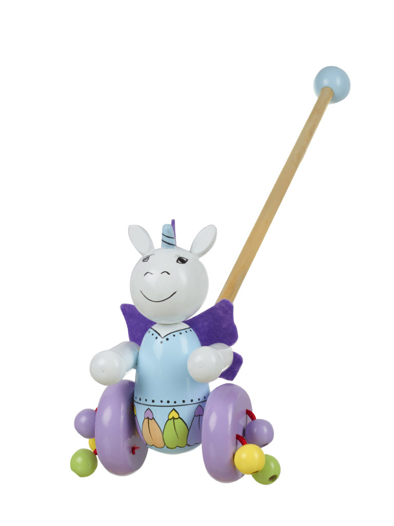 Orange Tree Toys Unicorn Push Along