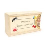 222130 Wooden Ocean Dominoes – Box
