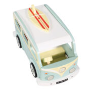TV478-Holiday-Campervan-Blue-Retro-Wooden-Surf-Board-Top