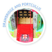 TV290 Lionheart Castle Drawbridge and Porticullis