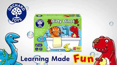Dirty Dinos Board Game - Orchard Toys