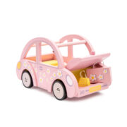 ME041-Sophie-Pink-Wooden-Toy-Car-Dolly-Luggage-Front