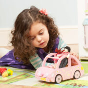 ME041-Sophie-Pink-Wooden-Toy-Car-Dolly-Luggage-Girl