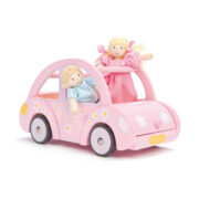 ME041-Sophie-Pink-Wooden-Toy-Car-Luggage-Dolls