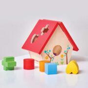 PL085-Bird-House-Wooden-Shapes-Sorter-Toddler-Toy-1