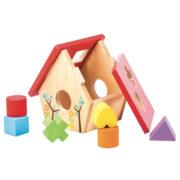PL085-Bird-House-Wooden-Shapes-Sorter-Toddler-Toy
