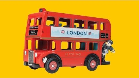 London Bus With Driver | Cars & Construction Collection | Le Toy Van | Traditional Wooden Toys