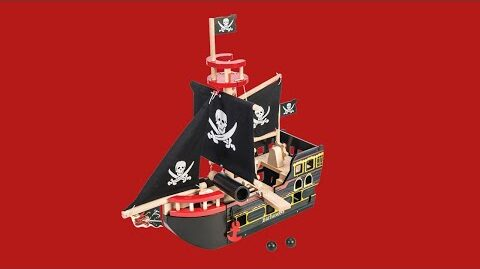 Barbarossa Ship | Pirates Collection | Le Toy Van | Traditional Wooden Toys