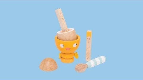 Egg Cup Set Chicky Chick | Honeybake© Collection | Le Toy Van | Traditional Wooden Toys